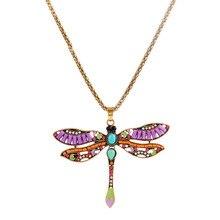 2017 New Fashion Anime Dragonfly Necklaces & Pendants Choker Bijouterie Vintage Necklace Women Pendant Collares Anel
