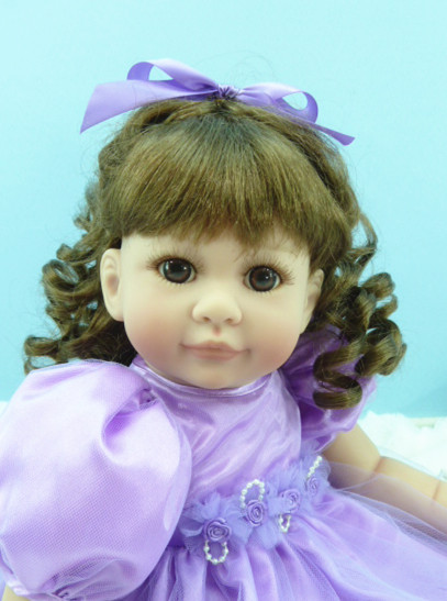 Soft Body Silicone Vinyl Reborn Girl Baby Princess Doll Handmade Soft Silicone Lifelike Newborn Dolls Classic Baby Toy Kids Gift american princess 18 45cm girl dolls brown long hair beauty girl reborn handmade vinyl newborn baby doll girls gift
