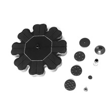 Flower-shaped Solar Powered Fountain Pump For Garden Pool Watering Submersible Floating Panel Water Pump with 4 Nozzles dropship