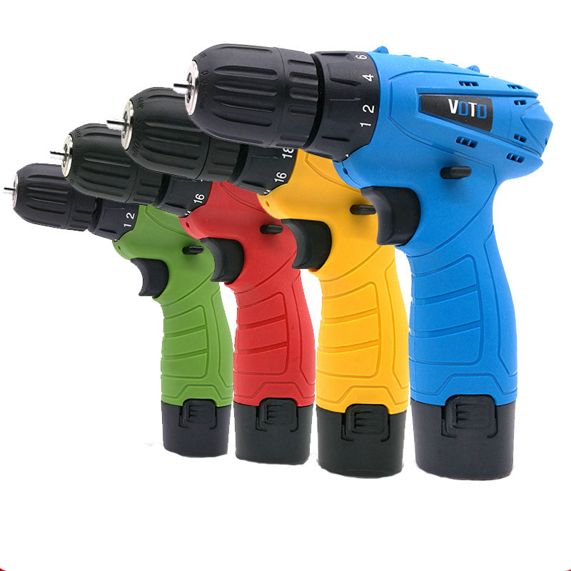 цена на 12V Rechargeable Household Hand Drill Multi-function Lithium-Ion Battery Cordless Electric Drill Micro Electric Screwdriver