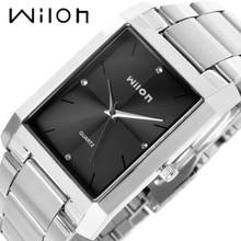 Роскошные Наручные часы 100% оригинал Подлинная Wilon квадратный кварцевые часы мужские часы модные женские формы Алмаз бизнес любитель смотреть