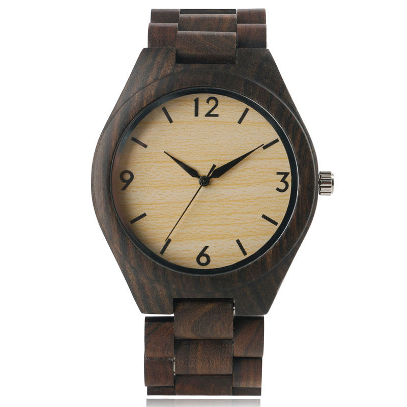 ФОТО Hot New Natural All Bamboo Wood Watches Top Quality Luxury Men Watch with Japanese Movement Quartz Wristwatch Free Shipping