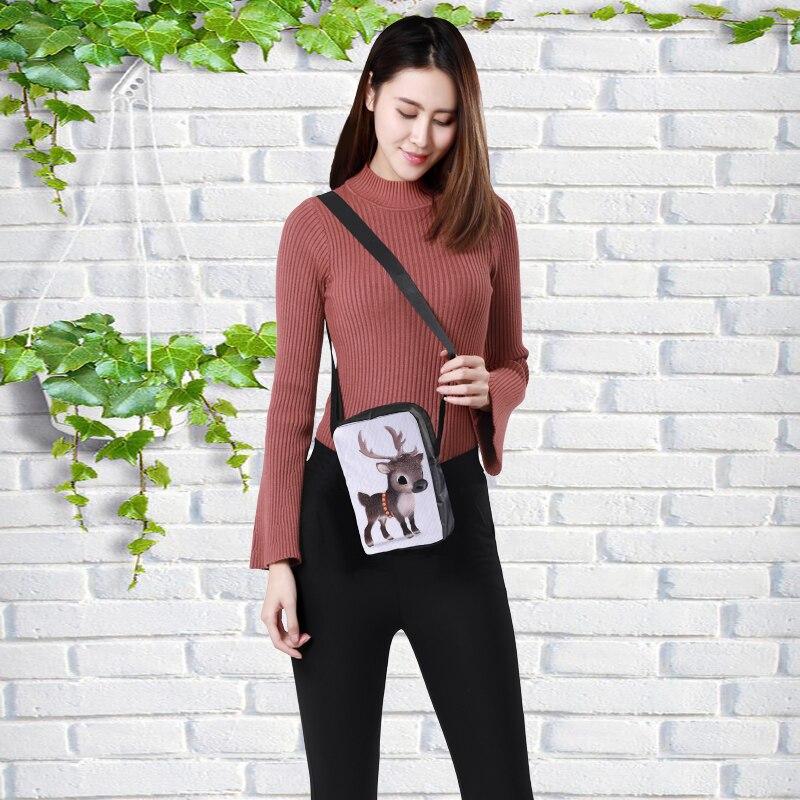 CROWDALE DIY Private custom Women Messenger Bags 3D-Animal Shoulder Bag Handbags Milu deer Children Crossbody Bag 23x17x5cm shoulder bag