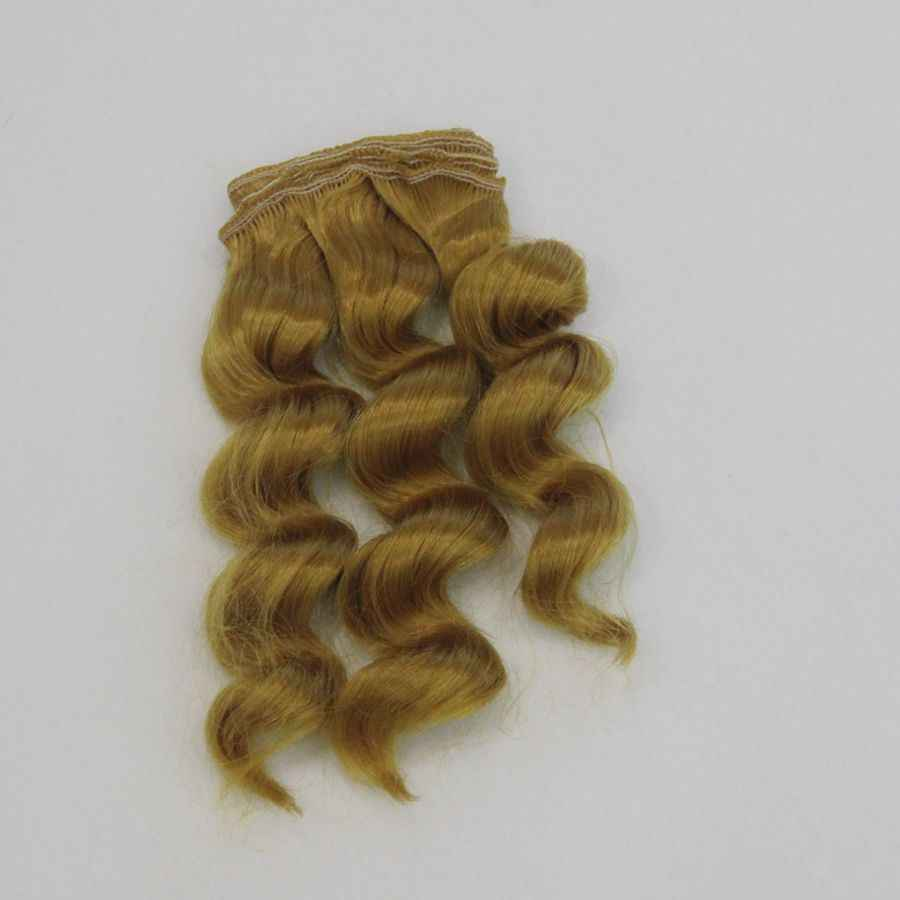 15cm pelo de muñeca para 1/3 1/4 1/6 BJD Diy muñeca Natural ondulado muñeca pelucas leche seda peluca resistente al calor alta temperatura muñeca cabello