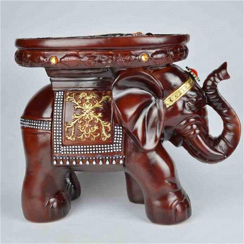 Élégant résine éléphant changement chaussure dessin animé enfants tabouret sculpture Fine artisanat ornements bureau décorations pour la maison ouverture cadeau