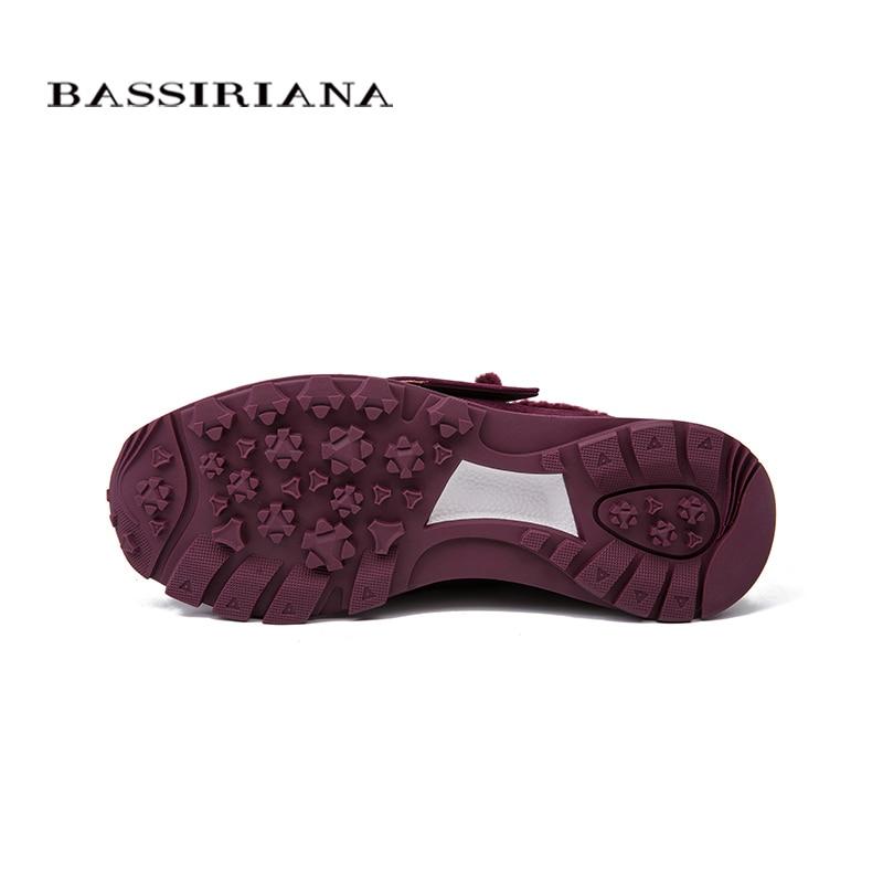 Ruso Envío Cuero Invierno Botas Mujeres Tobillo Red 35 Bassiriana Nuevos Zapatos Genuino wine Black Tamaños Las Gratis 40 gamuza Planos Para aqwEx7F