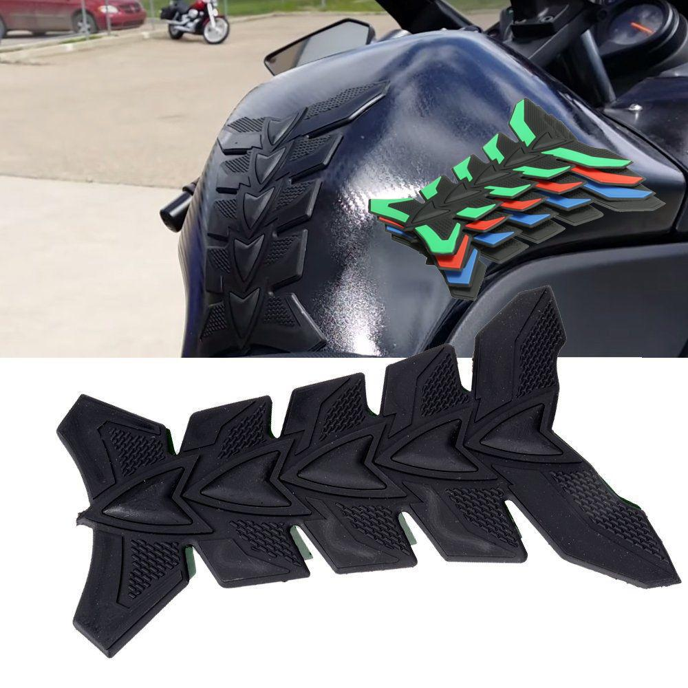 Triumph motorcycle leather gloves - Motorcycle 3d Rubber Tank Protector Pad For Triumph All Models Universal Double Sided Adhesive Sticker