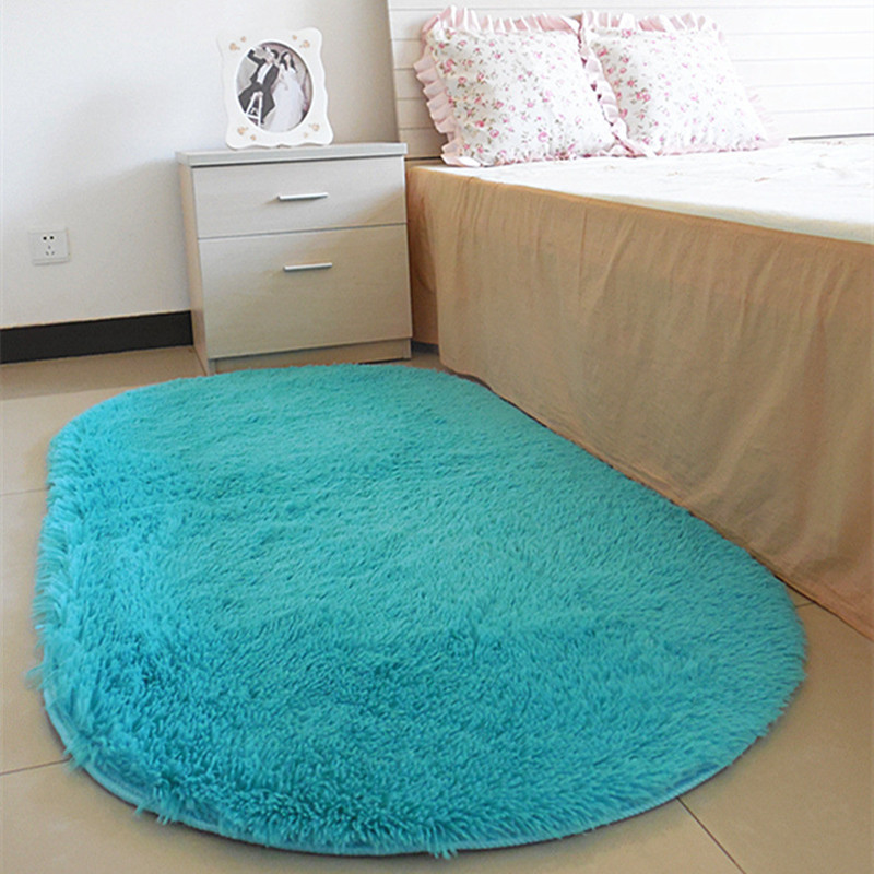 60 160 Cm Long Oval Fluffy Sofa Cover Carpet Mat Area Rug Living Bedroom Home Decoration Floor