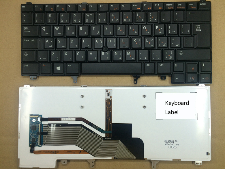 New notebook laptop keyboard for DELL E5420 E6220 E6320 E6420 E6430 backlist AR layout
