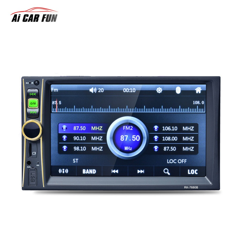 RK-7680 6.6 Inch HD 2 din Car Player MP5 MP3 MP4 Bluetooth Hands-free Reversing Priority with Camera MP5 Player Car Stereo Audio 2 din car radio mp5 player universal 7 inch hd bt usb tf fm aux input multimedia radio entertainment with rear view camera