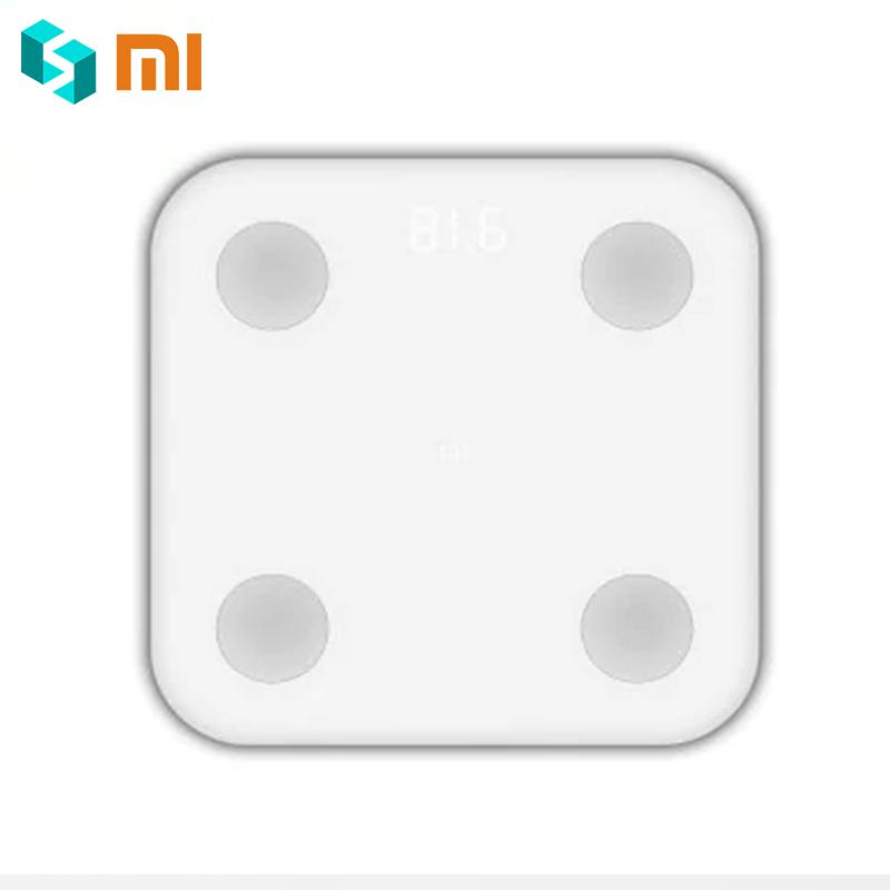 Mi APP Control Original Xiaomi Mi Smart Fat Scale 2 Body Composition Monitor Bluetooth 4.0 Xiaomi Mijia Weight Weighing Scale baby kids adult smart body fat intelligent weight scale electronic lcd digital app control analysis weight scale weighing tool