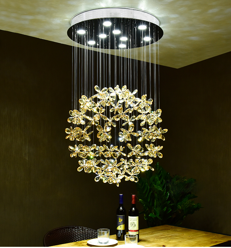 Hot Sale New Led Modern K9 Crystal Chandeliers Crystal Lamp Led Crystal Chandeliers Free Shipping Lighting High Quality Goods Lights & Lighting