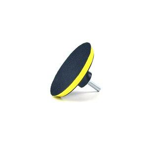 Image 4 - POLIWELL 3 4 5 дюймов M10 резьба самоприлипающая шлифовальные колодки крюк и петля наждачная бумага коврик на присосках Авто шлифовальный абразивный инструмент части