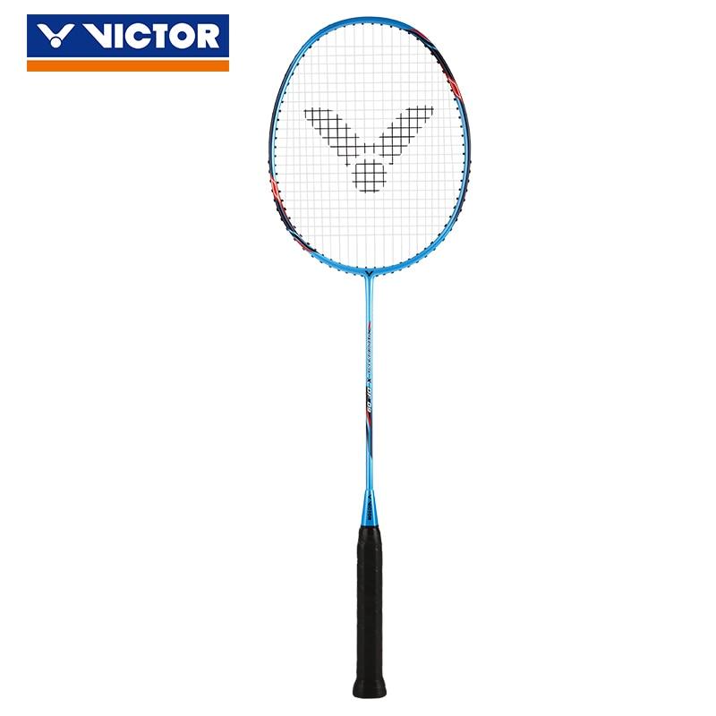 Original Victor Full Carbon Professional Badminton Racket Raquette Badminton With Bag Grip BRS1900 CHA9500 JS DF90 Tk100 HXDF80