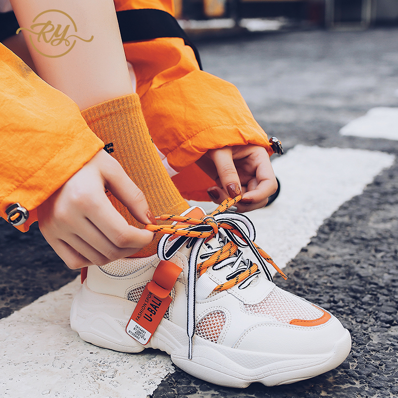 RY-RELAA women sneakers fashion luxury shoes women designers Genuine Leather  casual shoes women off white shoes 2018 summer insRY-RELAA women sneakers fashion luxury shoes women designers Genuine Leather  casual shoes women off white shoes 2018 summer ins