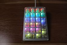 Plum 21 key numpad electrostatic capacitive mechanical keyboard 35g keypad PBT keycap numeric pad wired programmable number