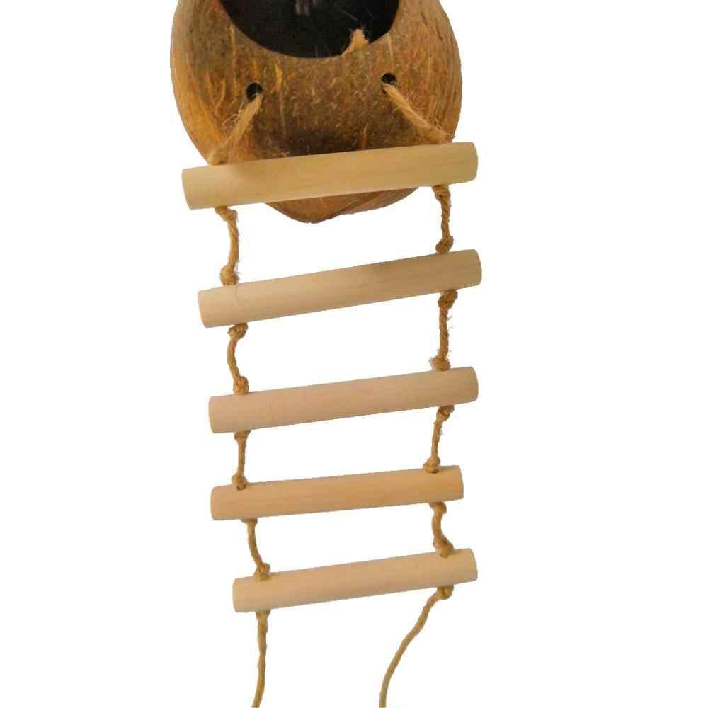 Scale Di Risalita Casa appeso uccello casa budgie nido di uccello di cocco borsette pappagallo  nido di uccello passero nido caldo anti-morso scala di risalita piccolo  nido