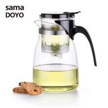 Samadoyo высокое качество Gongfu Чайный набор, стекло кунг-фу чай горшок пресс авто-открытый книги по искусству чай чашка с заварки A-14 900 мл дома элегантны…