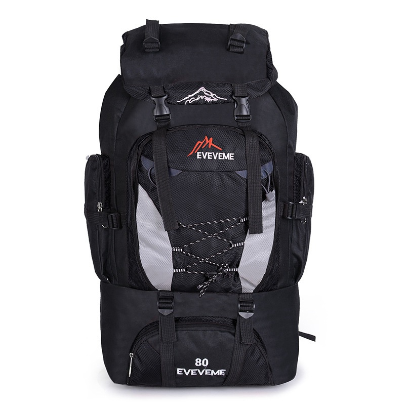 80L Unisex Men Waterproof Backpack Travel Pack Sports Bag Pack Outdoor Mountaineering Hiking Climbing Camping Backpack For Male