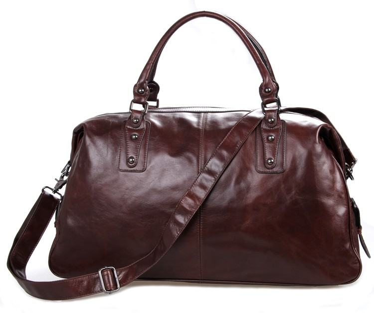Augus Top Quality Cow Leather Fashion Large Capacity Travel Bag Business Duffel Bag For Men 7071LC high quality authentic famous polo golf double clothing bag men travel golf shoes bag custom handbag large capacity45 26 34 cm