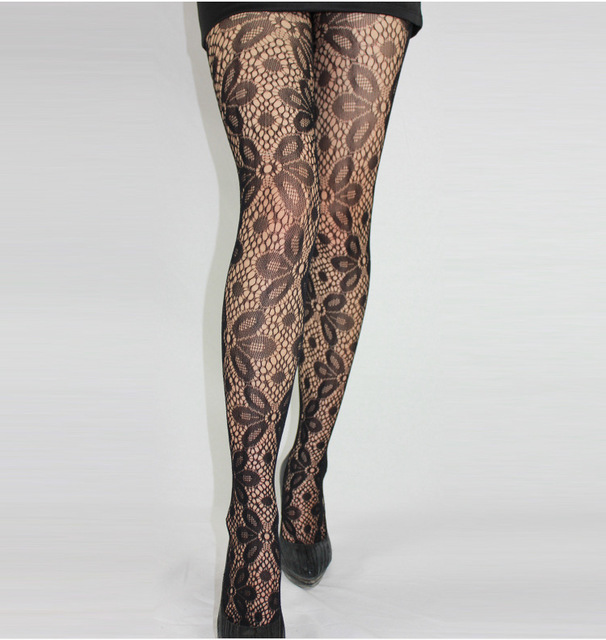Fishnet Pattern Jacquard Pantyhose Tights - 1pcs dww42 2