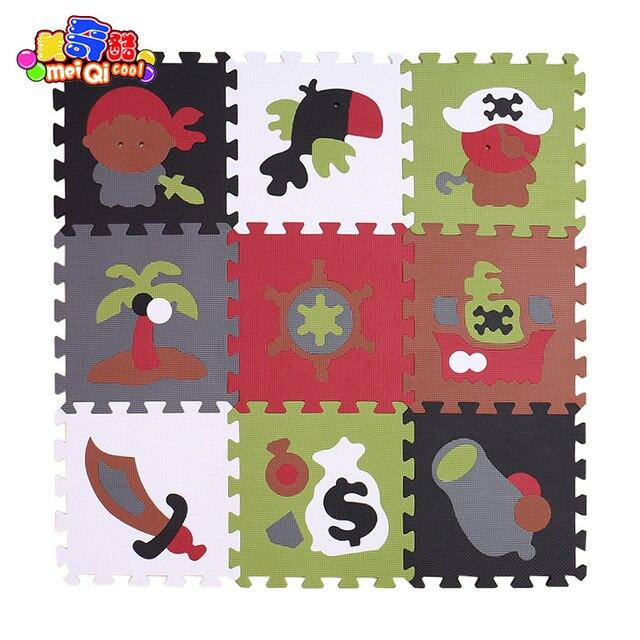 9 Pçs/set Jigsaw Brinquedo Das Crianças Tapete Esteira Do Jogo Do Bebê  Cobertor Chão