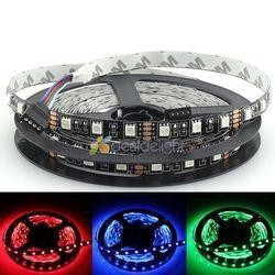 Черная печатная плата 5 М 5050 SMD 300 светодиодов RGB цвет, не водонепроницаемая гибкая светодиодная лента светильник DC12V Бесплатная доставка