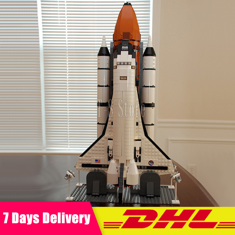 Clone 10231 DHL IN Stock LEPIN 16014 1230Pcs Space Shuttle Expedition Model Building Blocks Bricks Figures Modular Set Gift Toys toys in space