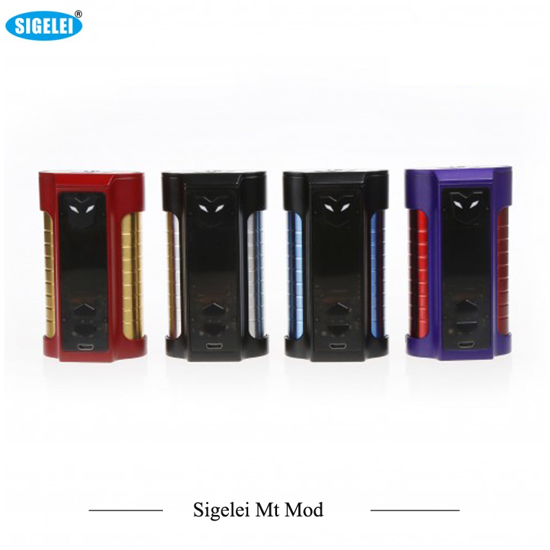 New Original Sigelei MT 220W TC Box MOD with Colorful LED Light Max 220W Output Huge Power No 18650 Battery Box Mod Vs RX GEN3