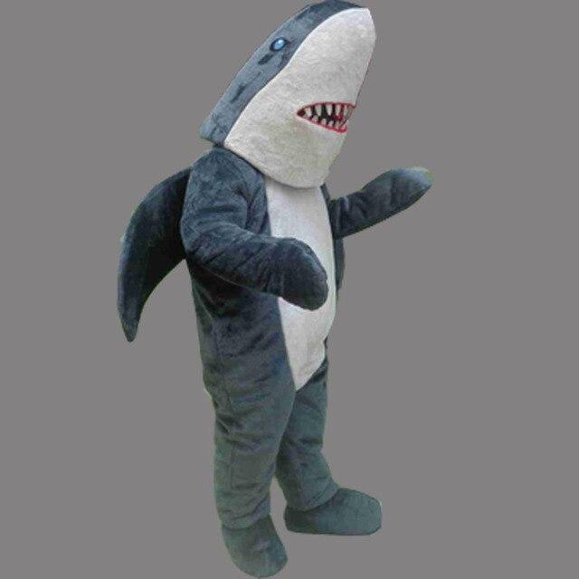 042c26a232 2016 HOT SALE Shark Mascot Costume Shark Cartoon Character Mascots for Sale  Grey Fish Costume Free Shipping
