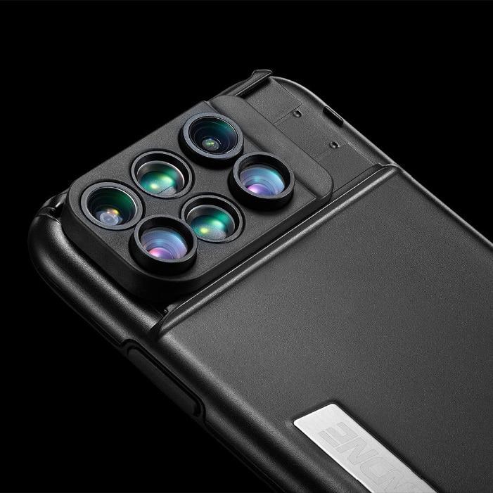 Meilleur cadeau pour le photographe mettre à jour l'appareil photo de votre téléphone haute qualité oeil grand Angle Macro 3 In1 appareil photo lentille coque de téléphone pour iphone