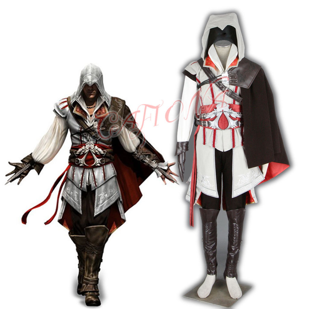 Cafiona Super Hero Assassins Creed Ezio Auditore Cosplay Costume Cool Man Fighting Outfi ...