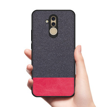 CoolDeal for Huawei Mate 20 Lite case Mate20 back cover soft silicone edge shockproof fabric