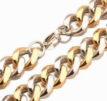 17mm 7-40 Punk 316L Stainless Steel Link Silver Gold Color Cut Buckle Cuban Link Chain Mens Boys Jewelry  Necklace Or Bracelet equte bssm5c3 316l stainless steel golden link bracelet 9