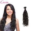 7a Indian water wave Human Hair 1 bundle deals Indian virgin hair water wave wet and wavy natural wave Hair Bundle