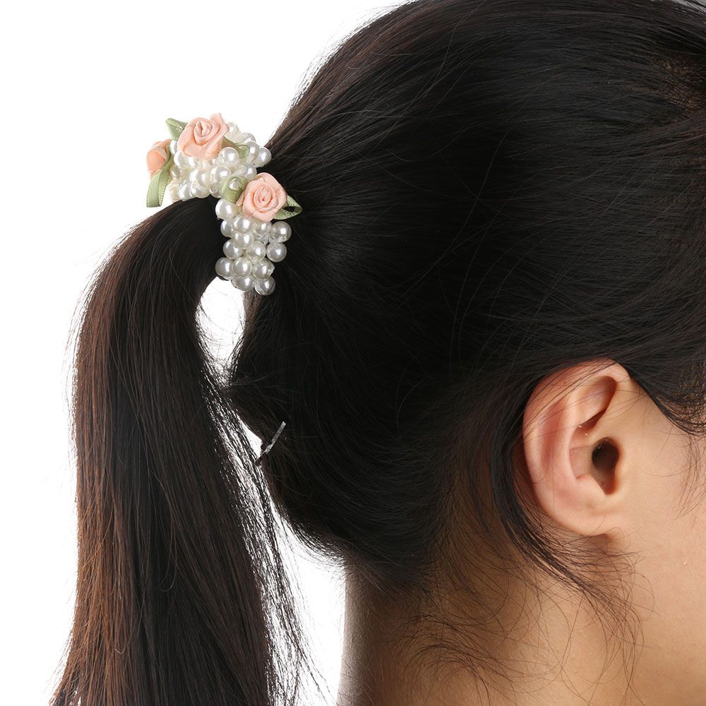 Hair Care & Styling Styling Tools 1 Pc Charming Fashion Girls Hair Accessories Rustic Small Fresh Flower Beaded Pearl Headband Rubber Band Elastic Hair Bands