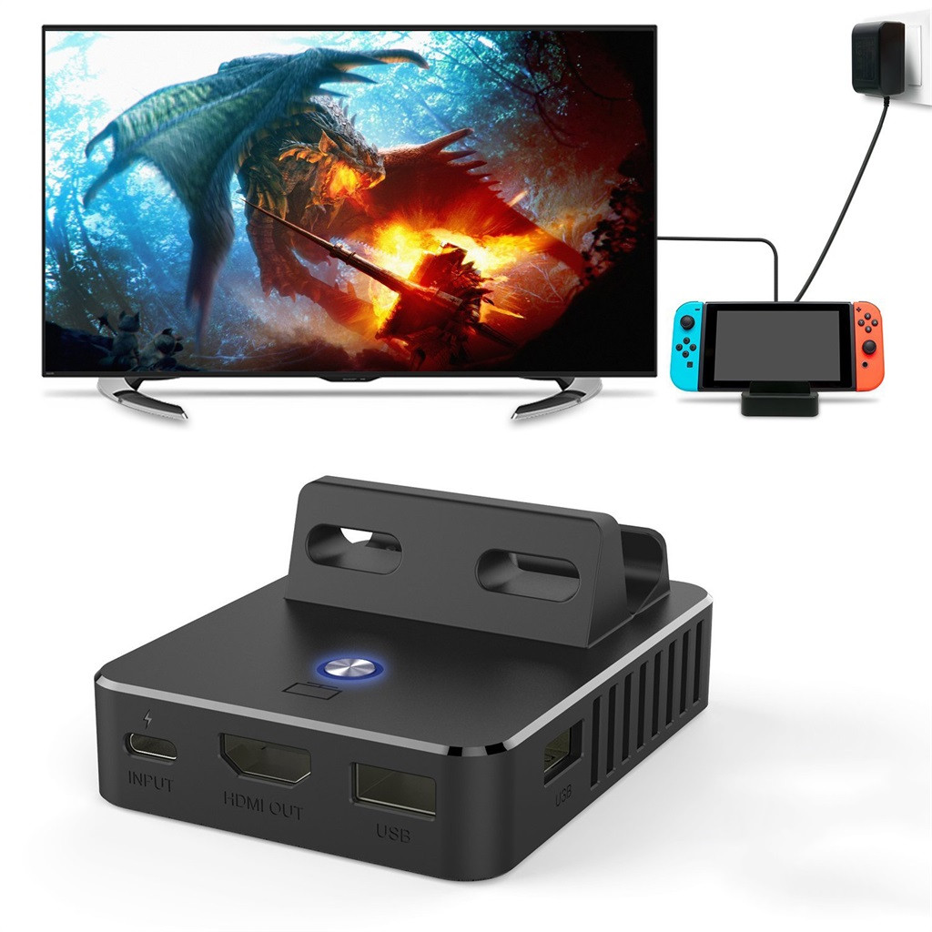 Image 5 - Charging Dock Station For Nintend Switch HDMI Video Converter Base Switch Portable TV Base Converter For Charging Playing Gamer-in Replacement Parts & Accessories from Consumer Electronics