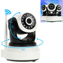 Wireless 3.6mm Lens Home Security WiFi Baby Monitor Alarm IP Camera HD 720P Audio Pan Tilt Network CCTV