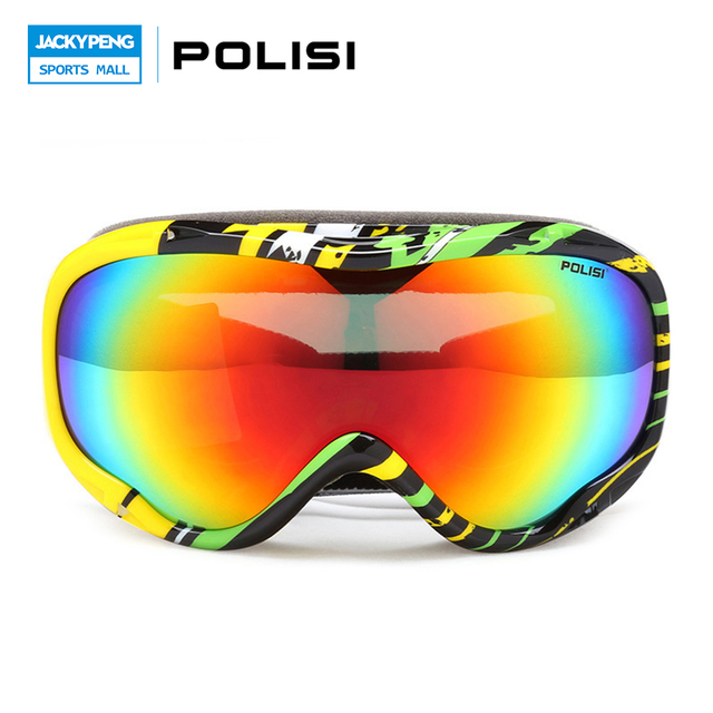 8028365fce0 POLISI Professional Men Women Skiing Eyewear Double Layer Anti-Fog Lens  Snowboard Snowboarding Goggles Winter Snowmobile Glasses