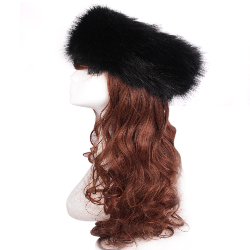 New 3 in1 Faux Rabbit Fur Hair Band Women Headband Hair Rings Head Wear Elastic Band Hair Neck Tube Scarf Ear Warmer Hat W1 gorgeous faux feather elastic hair band for women