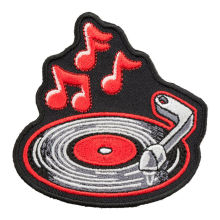 Custom Embroidered patches Music iron on badge emblem factory customize service for promotional gifts giveaway low price