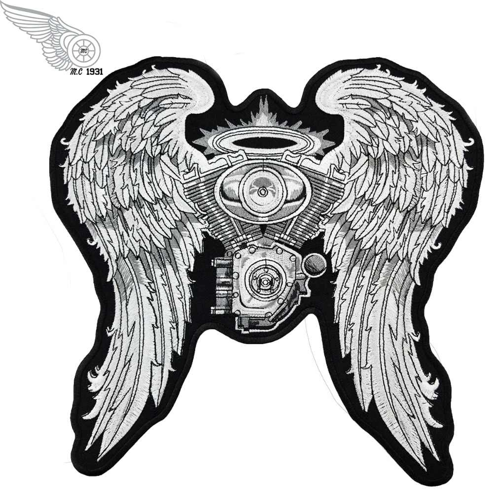 Live Free Angels Big Size Full Of Jacket Vest Embroidered Motorcycle Biker Vest Rock Punk Patch Free Shipping Custom