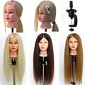 90% Real Hair Hairdressing Doll Heads Female Mannequin Professional Styling Training Head High Quality Minikin Head B40