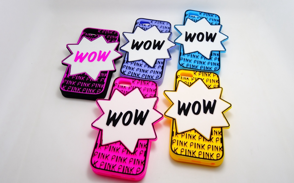 Love Victoria S Secret PINK WOW Letters Soft Rubber