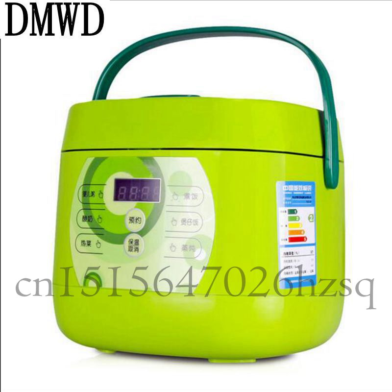 DMWD 1.3L Portable Electric Mini Rice Cooker Micro-computer control For 3-4 persons Household multifunction automatic cooker dmwd dfb a20y1 mini rice cooker 3 4 persons dorm cooking small household electric cooker genuine 350w 220v