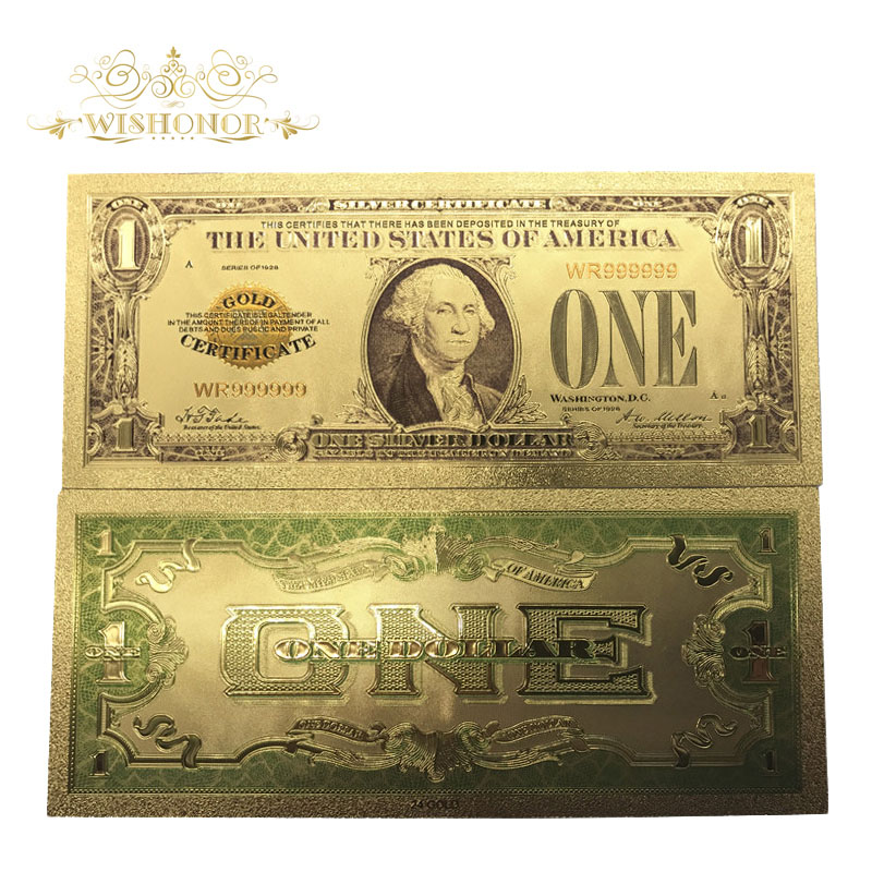 24k Gold Banknotes Usd 1 Dollar