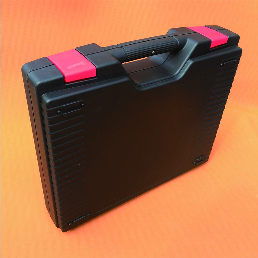 Middle Size 400*350*100mm Black Plastic Tool Case With Red Color Latches