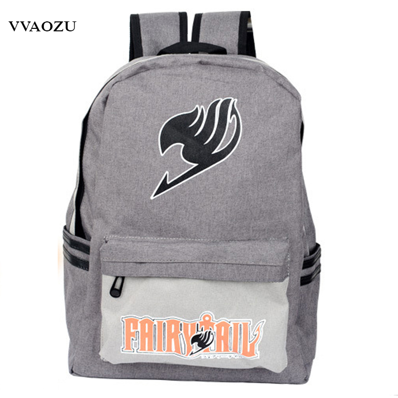 Japan Anime Harajuku Backpack Mochila Escolar Fairy Tail School Bag for Teenagers Canvas Travel Bags Backpacks Rucksack fairy tail shoulders school bags anime canvas luminous printing backpack schoolbags for teenagers mochila feminina