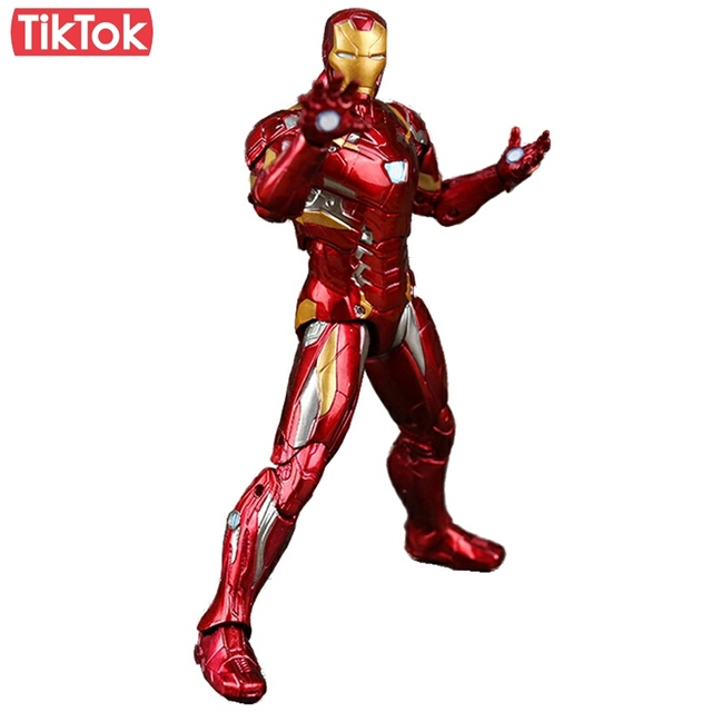 Captain america civile clint iron man tony stark jouet de dessin anim pvc action figure mod le - Iron man en dessin anime ...