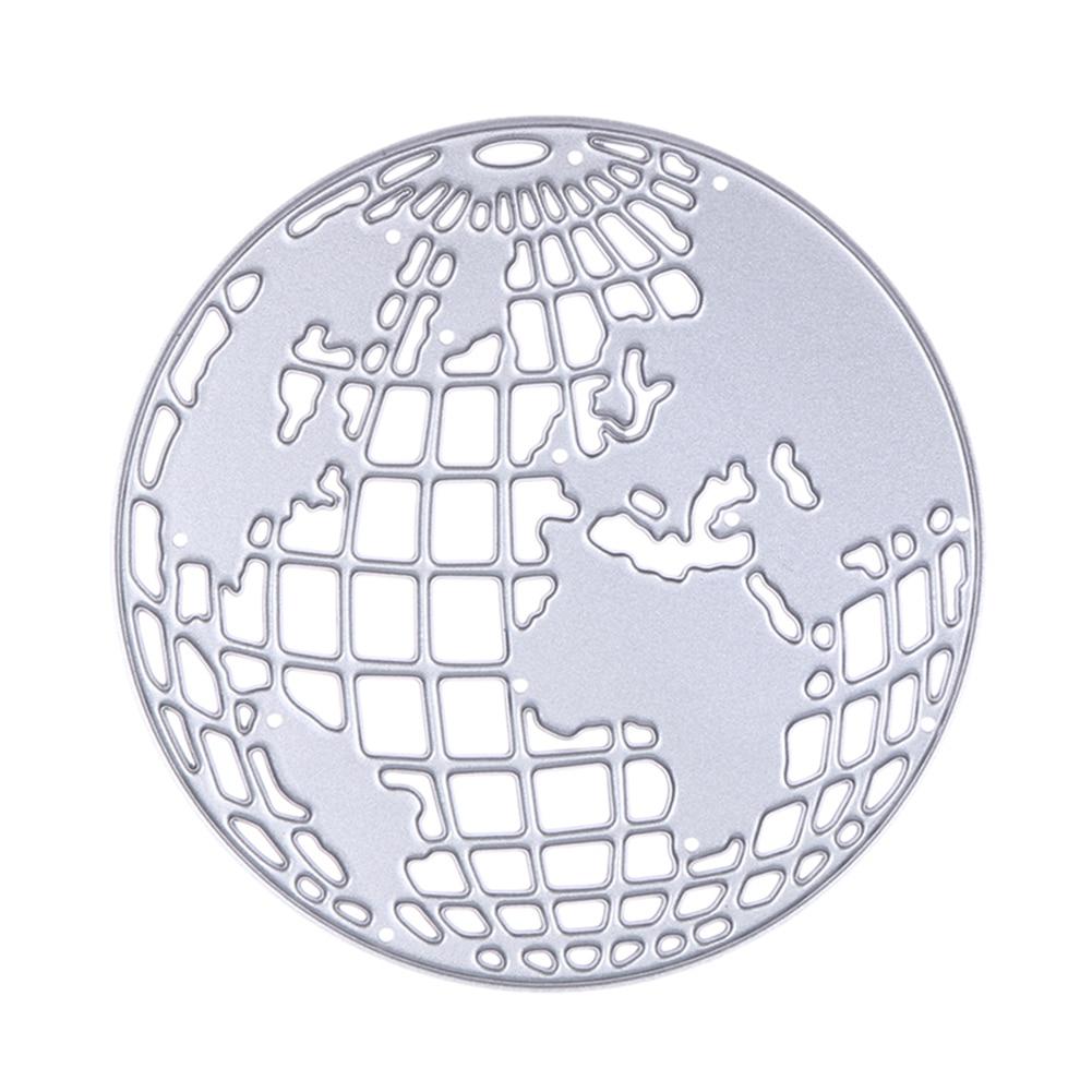 Scrapbook paper aliexpress - Globe World Map Die Cuts Metal Cutting Dies In Scrapbooking Embossing Folder Diy Funny Decoration Album Paper Card Craft Cute